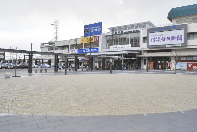 松本駅前広場工事